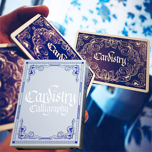 Cardistry Calligraphy - Blue