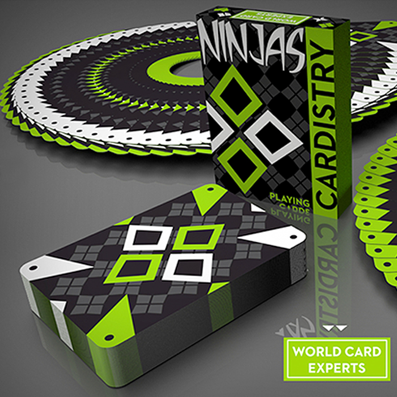 Cardistry Kiwi Ninjas Playing Cards - Green