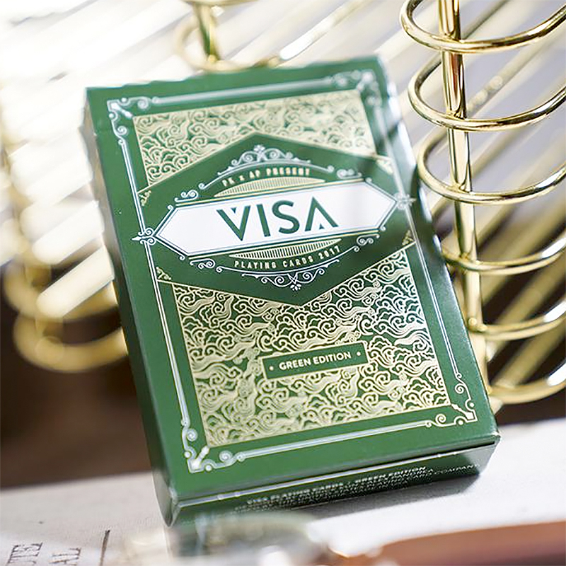 Green Visa Playing Cards