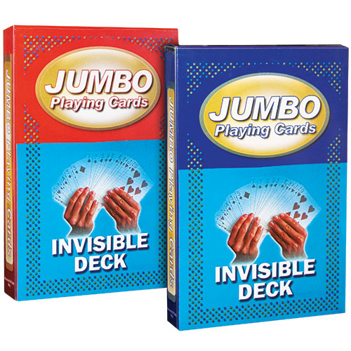 Jumbo Playing Cards - Invisible