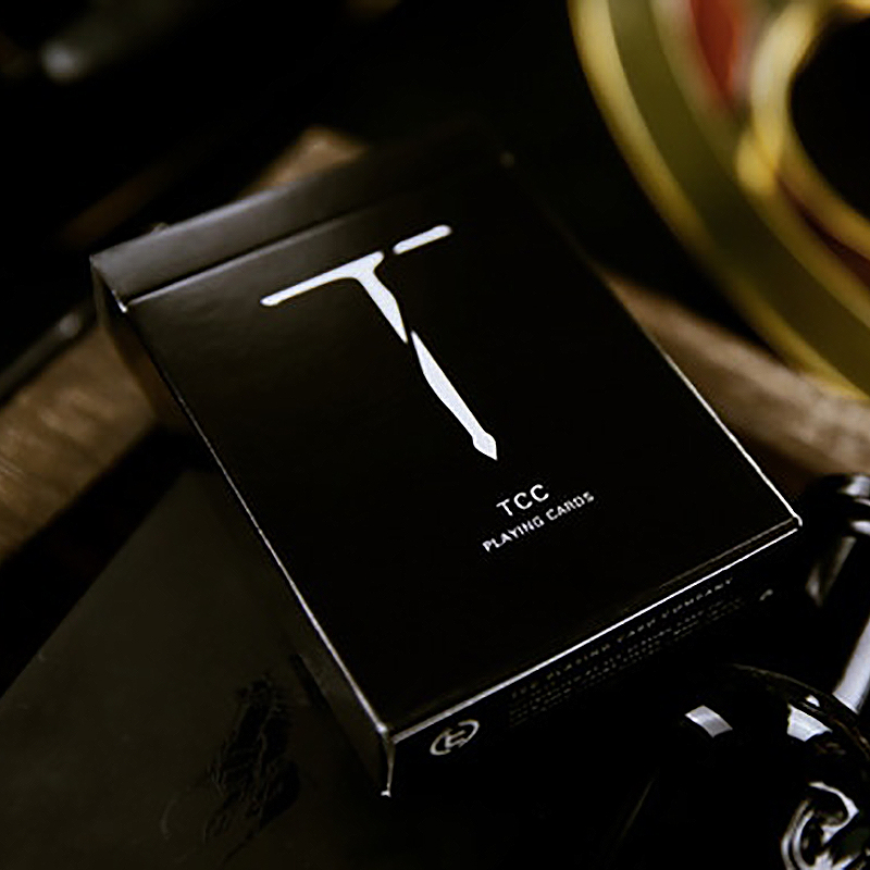 New T Playing Cards - Black