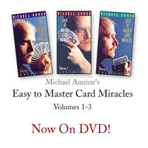 Easy To Master Card Miracles (V1,2,3 on DVD) - Michael Ammar