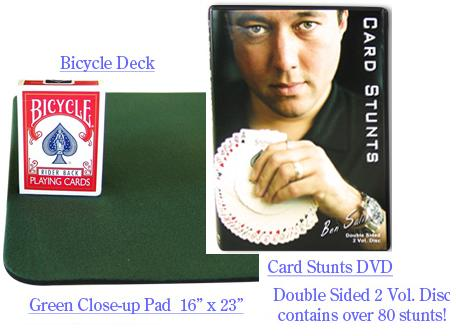 Card Stunts 2 DVD Combo + Bicycle Deck + Close-up Pad
